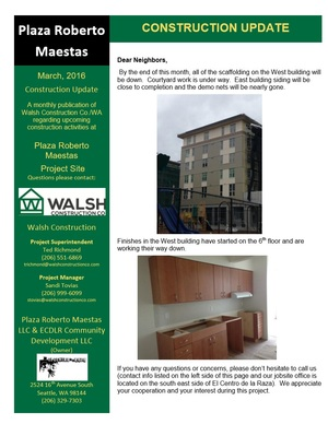 Walsh update March 2016