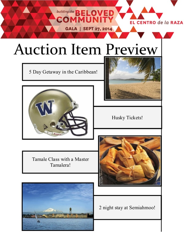 Auction Item Highlights 7.7.14