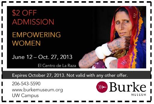 Burk Museum Coupon