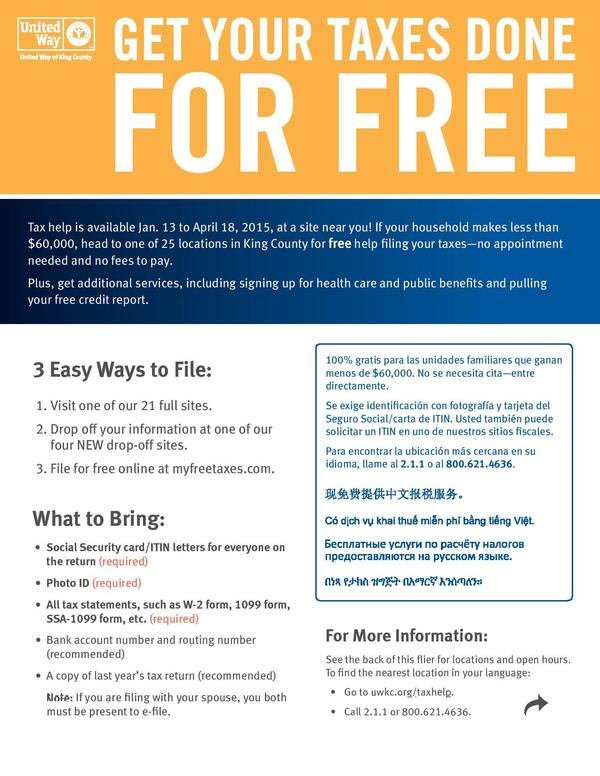 Free-Tax-Prep Flyer