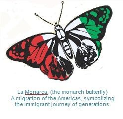 Butterfly for newsletter with caption
