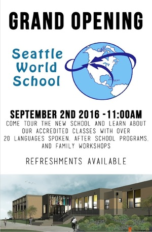 Seattle World School flyer