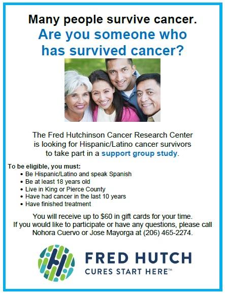 Cancer survivor support group