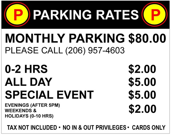 Parking Lot Rate Box 2