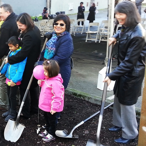 Estela Hirabayashi Groundbreaking (cropped2)